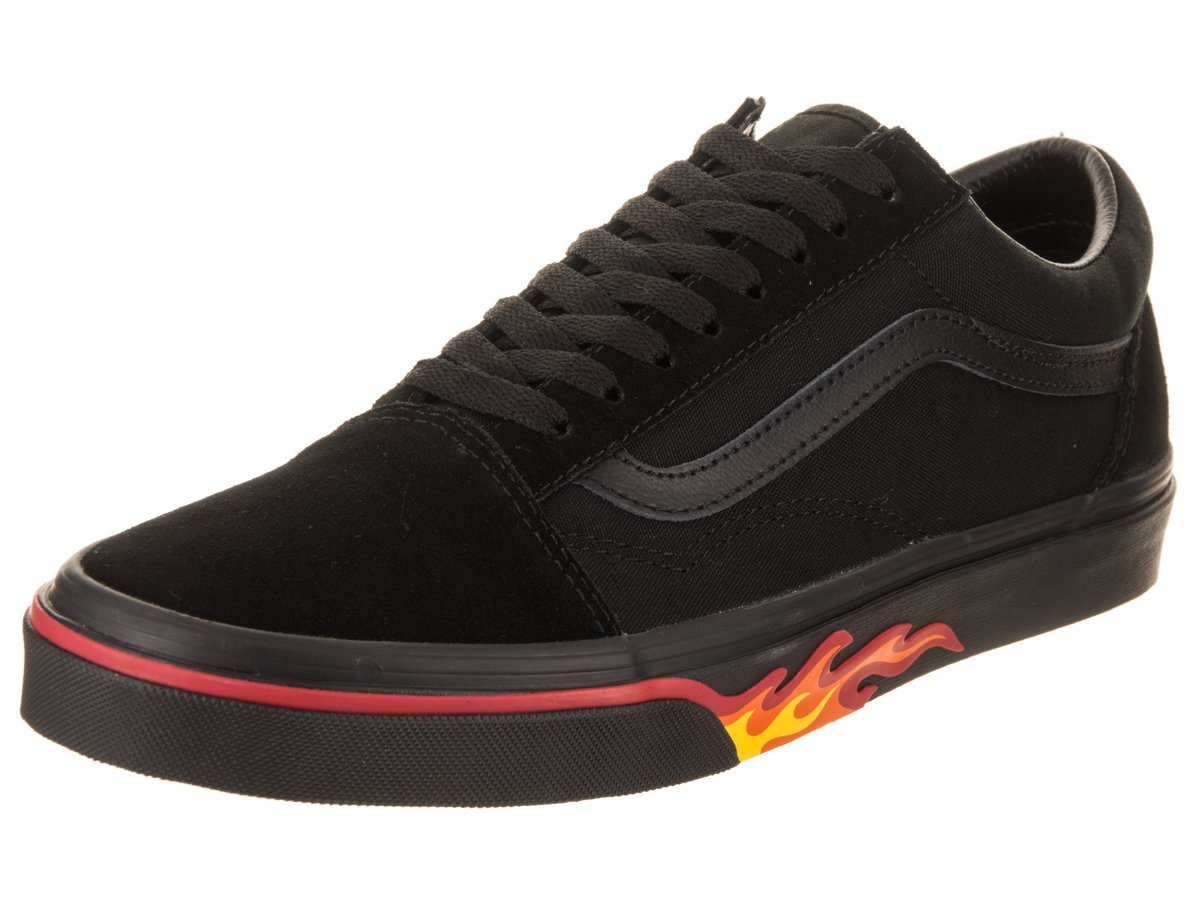 Vans Old Skool Unisex Adults' Low-Top Trainers B07DR1RM5C 7.5 M US Women / 6 M US Men|(Flame Wall) Black