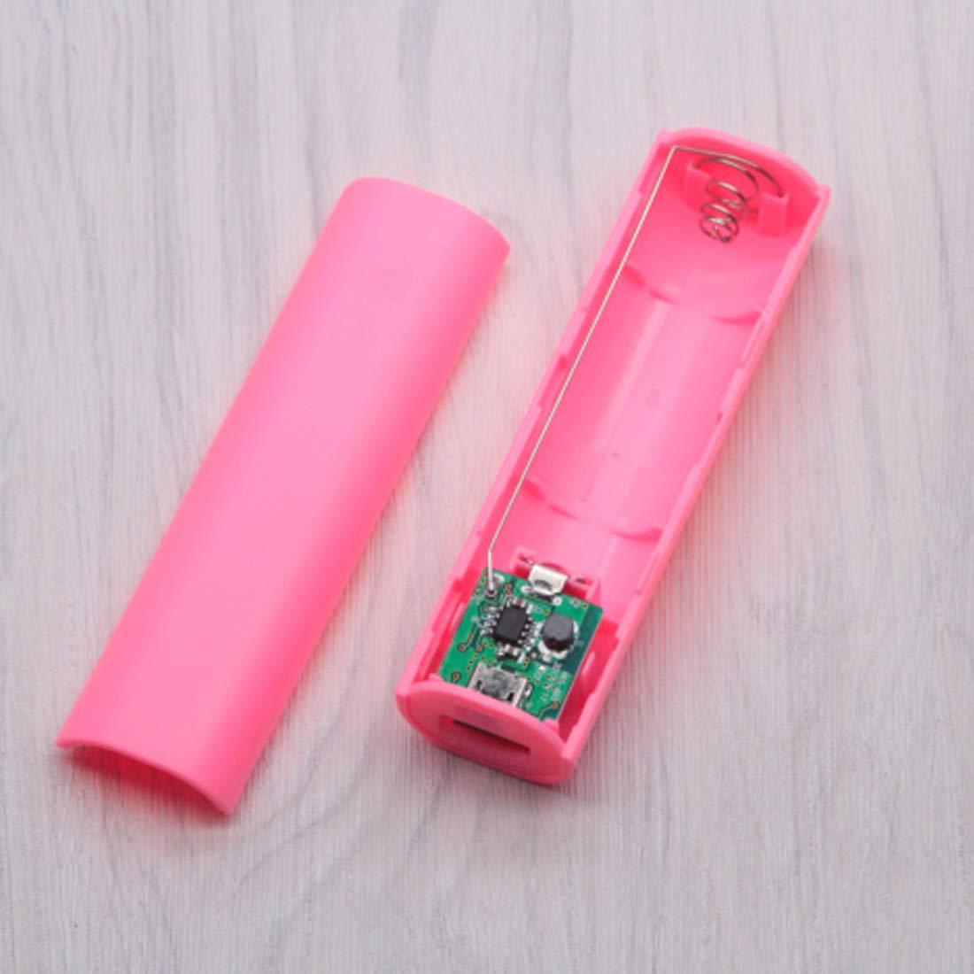 ihen-Tech Mini tragbare 18650 Ladeger/ät DIY USB Mobile Power Bank Pack Box Batterie Fall f/ür 1 x 18650