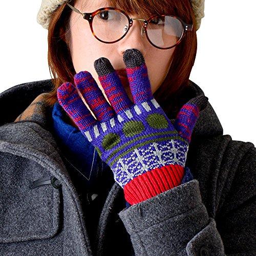 ポーズ空虚細分化するmufr(マフル) wade(ウェイド) スマホ 手袋 スマホ対応 メンズ レディース グローブ 防寒 おしゃれ 男女兼用 暖かい スマホ手袋 幾何学模様 アシンメトリー ドット 秋冬 カラフル