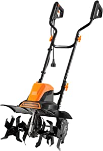 LawnMaster TE1318W1 Corded Electric Tiller 13.5-Amp 18-Inch