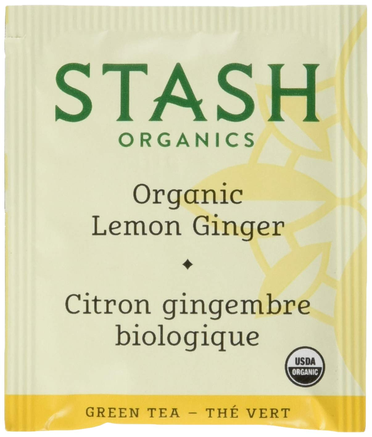 Stash Tea Organic Green Tea Lemon Ginger, 100 Count Tea Bags in Foil (packaging may vary) Individual Green Tea Bags for Use in Teapots Mugs or Cups, Brew Hot Tea or Iced Tea by Stash Tea