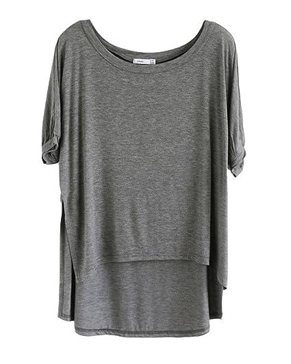Blusa Suelto Ocasional Camisetas con Mangas Yoga Camiseta T-Shirt Mujeres