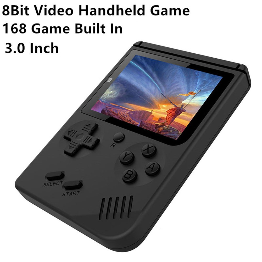 H&ZT Craft Handheld Game Console, 3 inch 168 FC Classic Video Game Console Retro Game Console for Children Gift( Include 1 USB Charge)