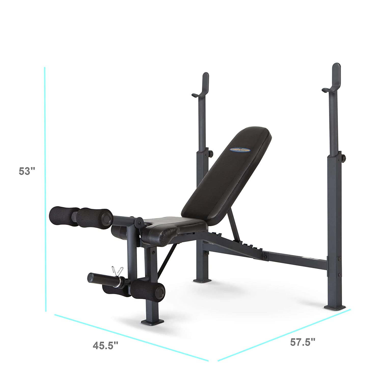 Amazon.com : Marcy Competitor Adjustable Olympic Weight Bench with Leg  Developer for Weight Lifting and Strength Training CB-729 : Sports &  Outdoors