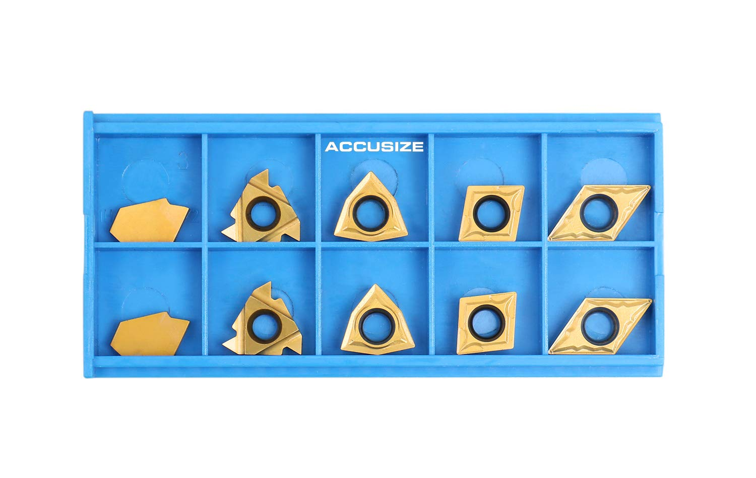 Accusize Industrial Tools 2 Pc of Each Kind of Carbide Inserts for 2988-0034 Total 10 Pieces CVD Coated and Tin Coated 2988-0034Inserts