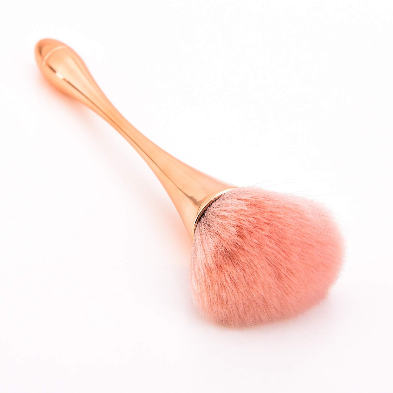 Super Large Mineral Powder Brush, Bronzer Kabuki Makeup Brush, Soft Fluffy Foundation Brush, Professional Powder Brush and Blush Brush for Daily Makeup (Grade color)