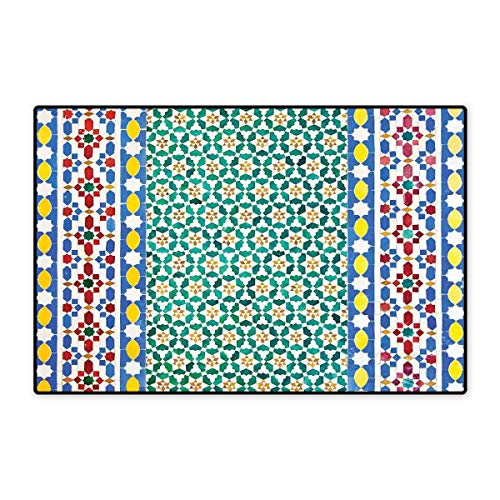 Detail Underwire (Moroccan Decor Bath Mats Carpet Colorful Moroccan Mosaic Wall Mideast Style Craftsmanship Vertical Details Customize Door mats for Home Mat 24