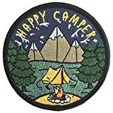#8: O'Houlihans - Happy Camper Patch - Adventure Travel Hiking Camping Patch - Iron on Patch