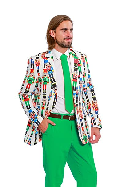 Shinesty Christmas Suits.Shinesty Ugly Christmas Suit Jacket And Tie For Men The