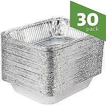 Aluminum Foil Steam Table 9x13 Pans, Half Size Deep [30 Pack]