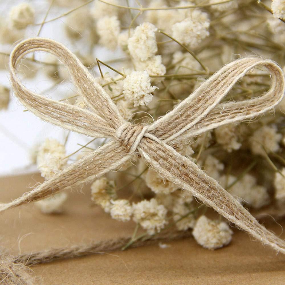10/m//10/m Ruban de Lin Couleurs m/élang/ées Simples r/étro D/écorations Ruban en Lin pour Meubles DIY f/ête de Mariage Fleurs Womdee Ruban en Toile de Jute Naturelle