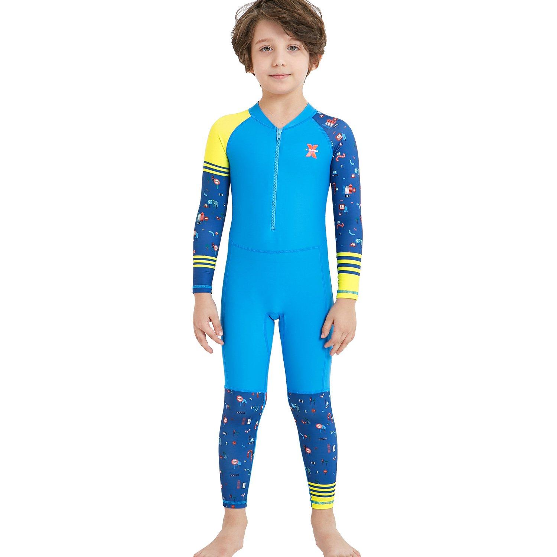 【初売り】 ダークLightning子供用ウェットスーツ、2 mmネオプレン熱水着 Kids、One Piece Piece Wet Suits For釣り/、スキューバダイビングダイビング、サーフィン、子供ラッシュガードフルスーツ水着、男の子と女の子 B07D1NZZL5 Boy's Fullsuit Lycra/ Blue Kids M size Kids M size|Boy's Fullsuit Lycra/ Blue, 生駒市:1c67a2f0 --- arianechie.dominiotemporario.com