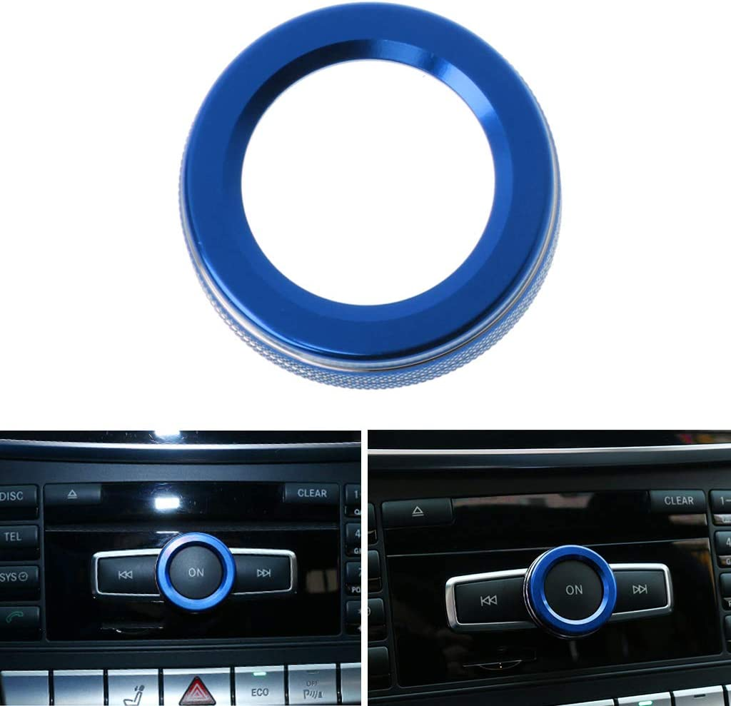 GHTGHTS Car Volume Knob Decorative Ring Cover For A B E Class GLA CIA GLE ML GL X164 X166 W251 W168 W176 W245 W246 AMG