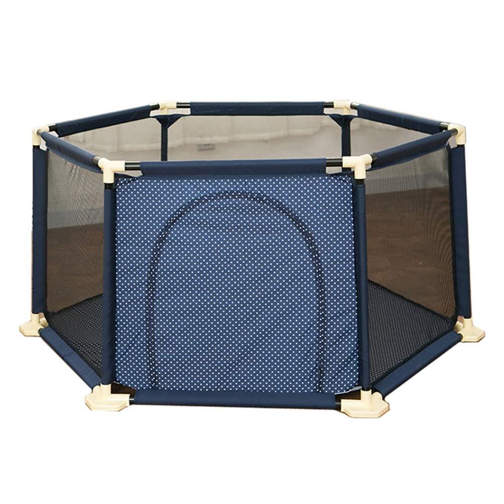 [定休日以外毎日出荷中] ベビーサークル, アンチロールオーバーポータブルベビープレイペン(ゲート付)、プラスチック製6パネル安全幼児用保護庭、子供用安全柵 - 高さ67cm - B07JHPM93V 高さ67cm (色 : 青) 青 B07JHPM93V, bocca-shop:26d7a86d --- a0267596.xsph.ru