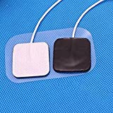 Healifty Muscle Stimulators 10Pcs Electrodes Replacement Pads with 2mm Plug for TENS 7000/3000/ EMS Digital Therapy Machine Massager