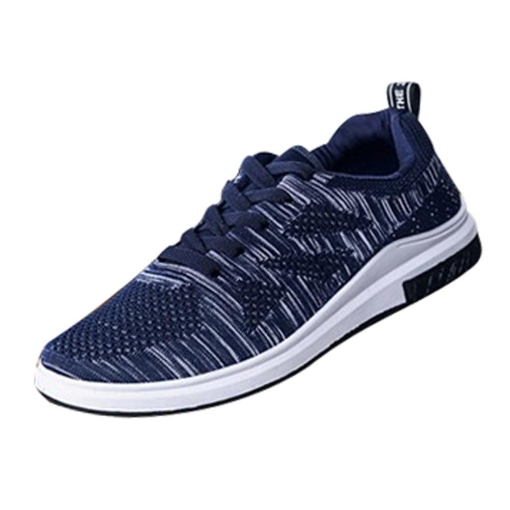 AIMTOPPY Sneakers Breathable Mesh Casual Shoes Walking Outdoor Running Shoes (US:8, Blue)