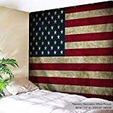 XINYI Home Wall Hanging Nature Art Polyester Fabric Vintage Theme Tapestry, Wall Decor For Dorm Room, Bedroom, Living Room, Nail Included - 90'' W x 71'' L (230cmx180cm) - USA Flag