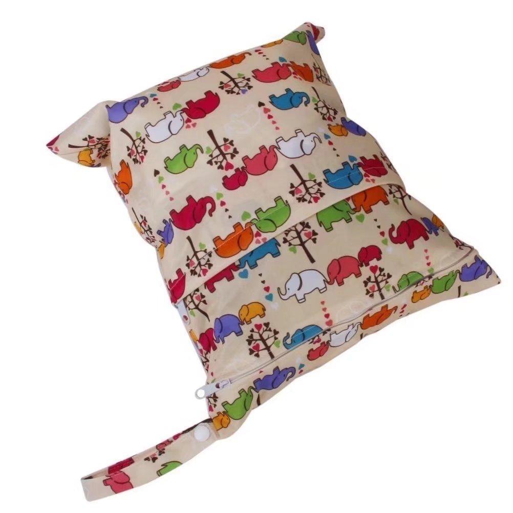 RICISUNG Baby Kleinkind Wasserdichtem Rei/ßverschluss wiederverwendbare Stoff Windel Tasche