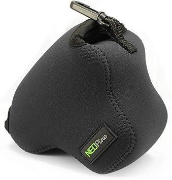 Negro Funda Camara de Fotos Digital Camara Reflex Neopreno Estuche para Canon EOS M6 Mark II EOS M6 15-45mm F/3.5-6.3: Amazon.es: Electrónica