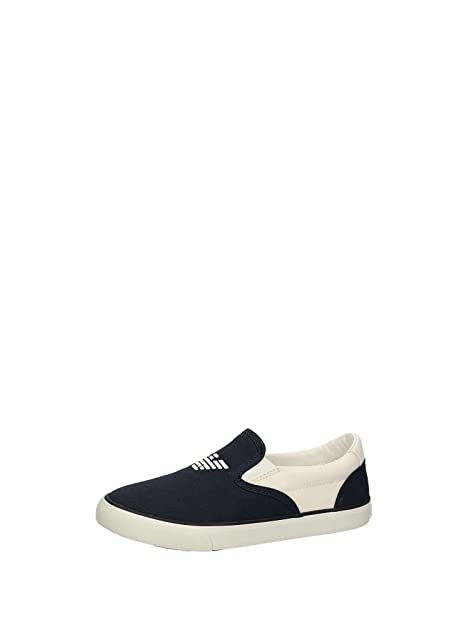 Armani Junior Sneaker Blu Bianco EU 24  Amazon.it  Scarpe e borse ffed3830840