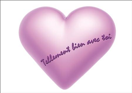Carte De Voeux Belle Carte Damour Romantique Avec Un Cœur