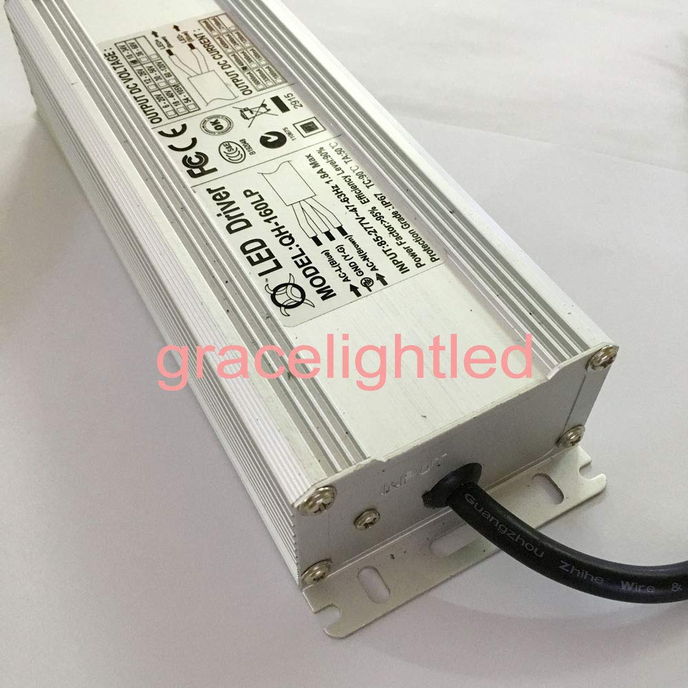 160W LED Driver 4800mA DC18-34v Power Supply IP67 Waterproof Constant Current FloodLight Driver for High Power LED