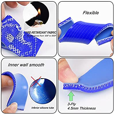 Silicone Radiator Coolant Hose Piping Kit Clamps For SUZUKI ATV DVX400 LTZ400 2003 2004 2005 2006 2007 2008 Blue: Automotive