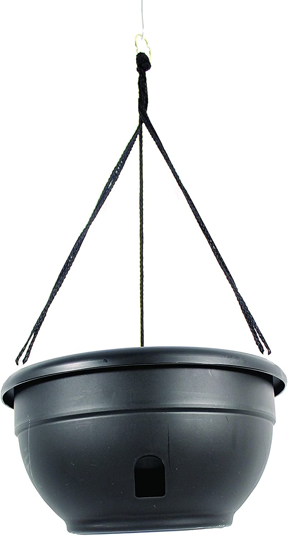 Apollo Plastics HO12-BLACK Eezy Gro Hanging Planter, Black