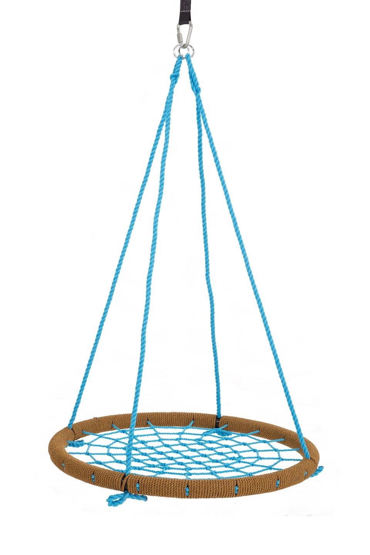 SkyBound Round Tree Swing Nets, Tan/Blue, 40''/Large by SkyBound