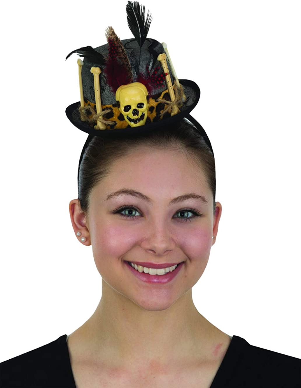 Womens Mini Witch Doctor Top Hat Headband Voodoo Cap Halloween Costume Accessory