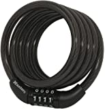 Master Lock 8143D Self Coiling Cable Lock, 4-Feet x 5/16-inch, Black