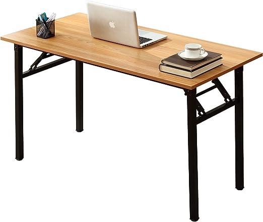 DlandHome Mesa Plegable Mesa de Ordenador Escritorio de Oficina ...