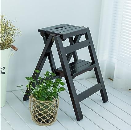 Fantastic Amazon Com Solid Wood Step Stool Household Multi Functional Ibusinesslaw Wood Chair Design Ideas Ibusinesslaworg