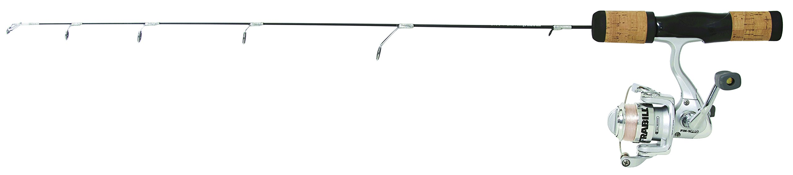 Frabill Fin-S Pro 30-Inch Medium Ice Fishing Rod and Reel Combo, Black by Frabill
