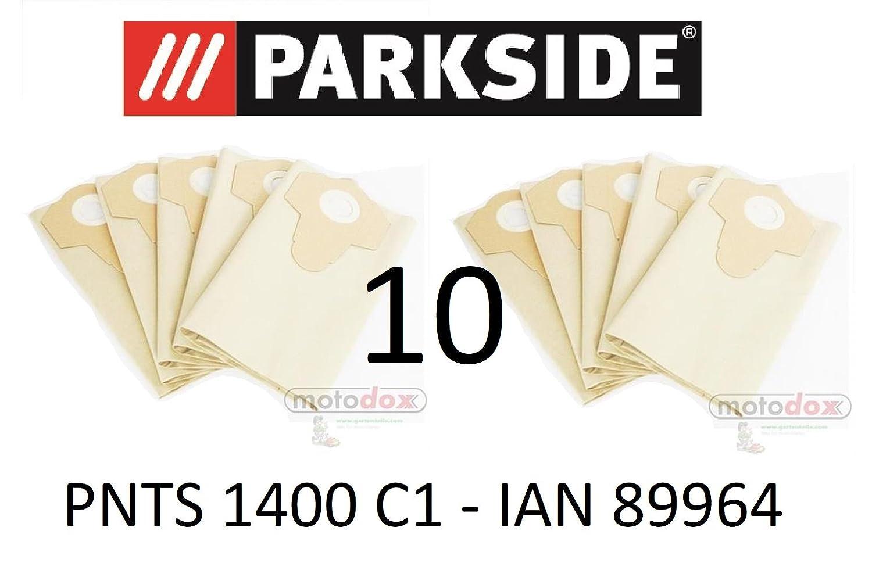 Filtre en papier 30 l pour votre aspirateur eau et poussiè re PARKSIDE PNTS 1400 C1, ensemble de 10 sacs, LIDL 89964