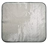 "Pitstop Furniture DPCM4750 Chrome 47"" x 50"" Diamond Plate Chair Mat"