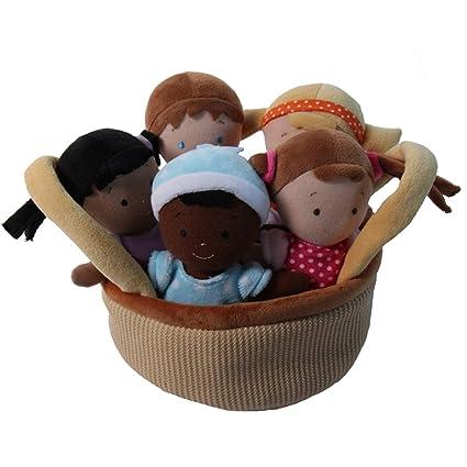Amazon.com: Snuggle Stuffs - Juego de 5 muñecas de peluche ...