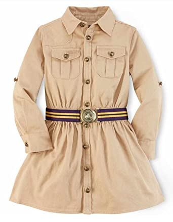 1b363f95f Image Unavailable. Image not available for. Color: Ralph Lauren Polo Girls  Chino Cargo Shirtdress ...
