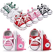 Save Beautiful Toddler Baby Girls Boys Shoes Infant, Pink2, Size 0-6 Months