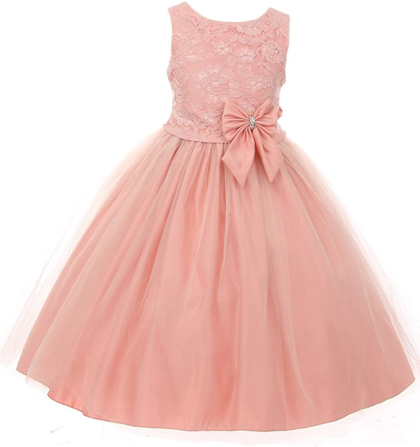 830bf897cd8 BNY Corner Lace Over Tull Flower Girl Dress  5MjuC0712020  -  28.99
