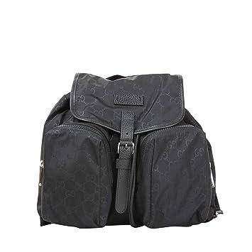 faac7756880aeb Gucci Two Front Pockets Unisex Black GG Nylon Medium Backpack 510343 1000:  Amazon.ca: Electronics