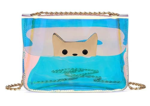 ab3c372727b3 Image Unavailable. Image not available for. Color  Hologram Transparent  Shoulder Bag Mini Cute Clear Crossbody Purse for Girls