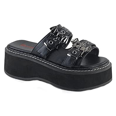 85d81a28d9a2 Demonia Womens Platform Sandals with Skull Buckles Emily-100  Amazon.co.uk   Shoes   Bags