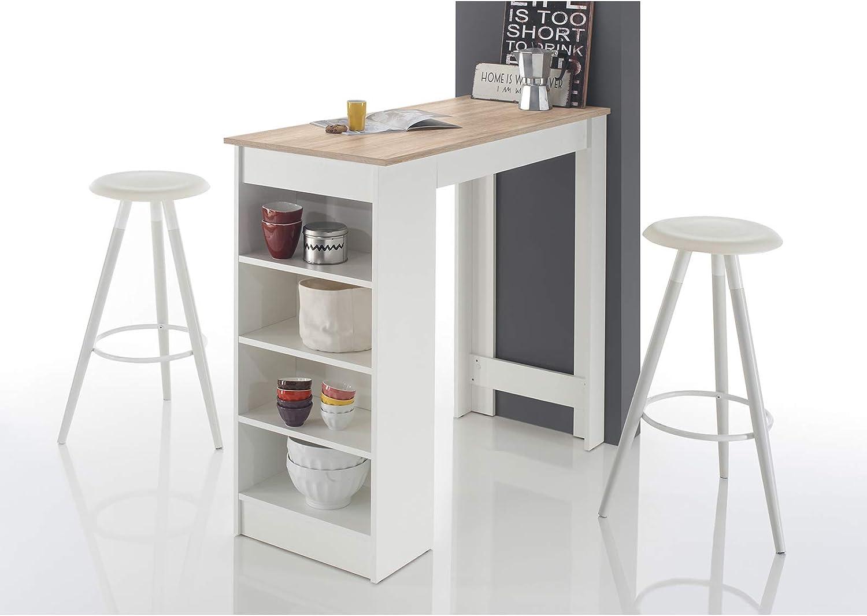 Bistrotisch Esstisch weiss BLANCHE 80cm hochglanz Design Möbel Küchentisch Tisch