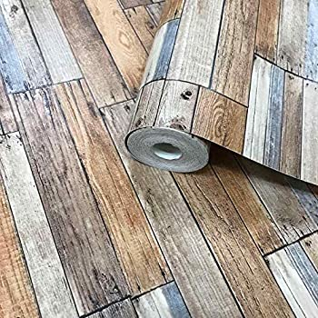 Wallpaper Rustic Reclaimed Weathered Faux Wood Shiplap