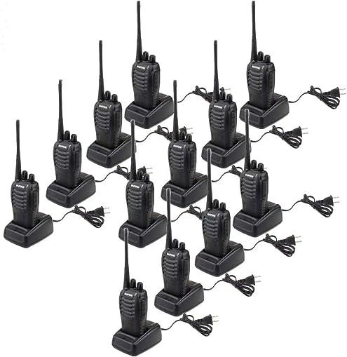 BaoFeng BF-888S 5W 400-470MHz 16-CH Handheld Walkie Talkies Pack of 12