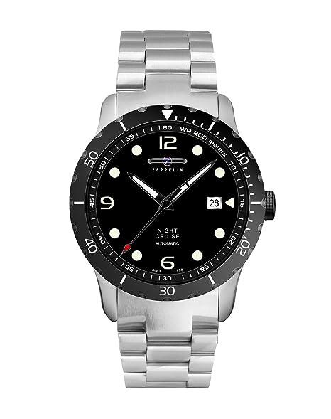 Zeppelin Reloj Analogico para Unisex de automático con Correa en Chapado en Acero Inoxidable 7264M2: Amazon.es: Relojes