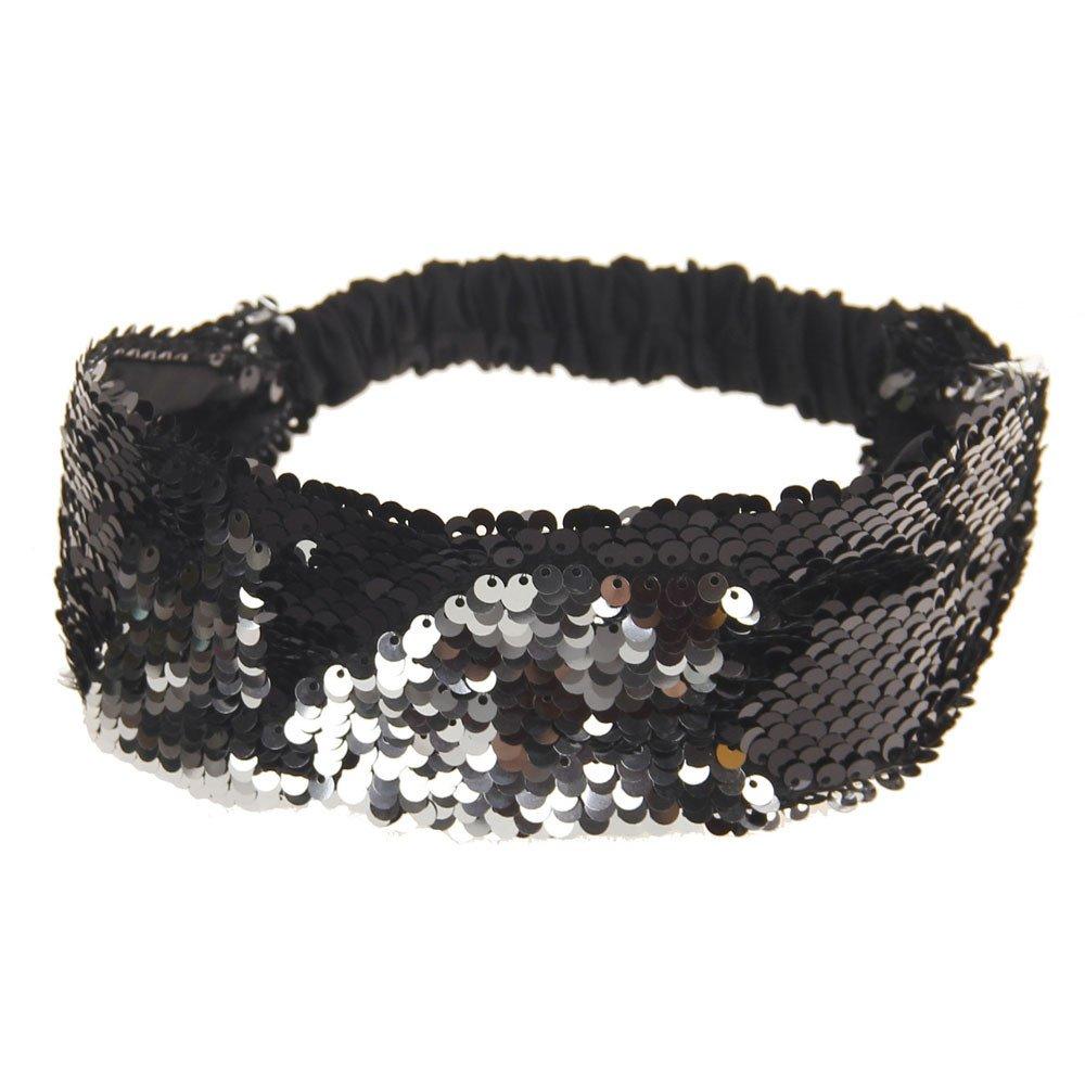 Women Fashion Hair Ball Cotton Headbands Sequins Yoga Elastic Run Head Wrap Wide Hair Accessories Sport Turban ODGear (A)