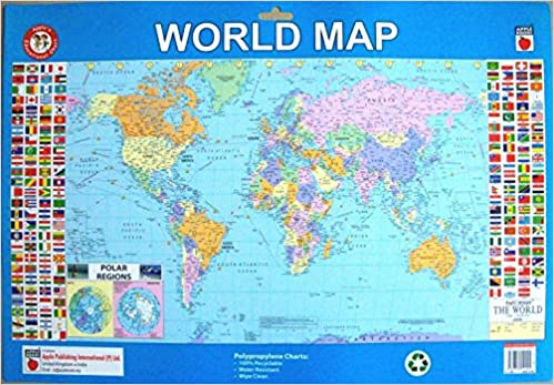 Buy world map plastic wall chart washable tear resistant water buy world map plastic wall chart washable tear resistant water resistant book online at low prices in india world map plastic wall chart washable gumiabroncs Choice Image