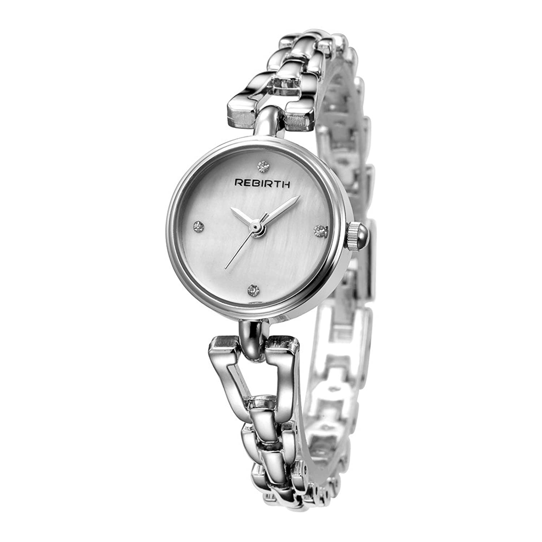 Lady 'sファッションブレスレットドレススタイルクオーツMovement腕時計、ステンレススチールストラップ 2# B0725C86DK2#